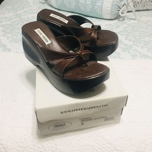 Steve Madden brown wedges size 9
